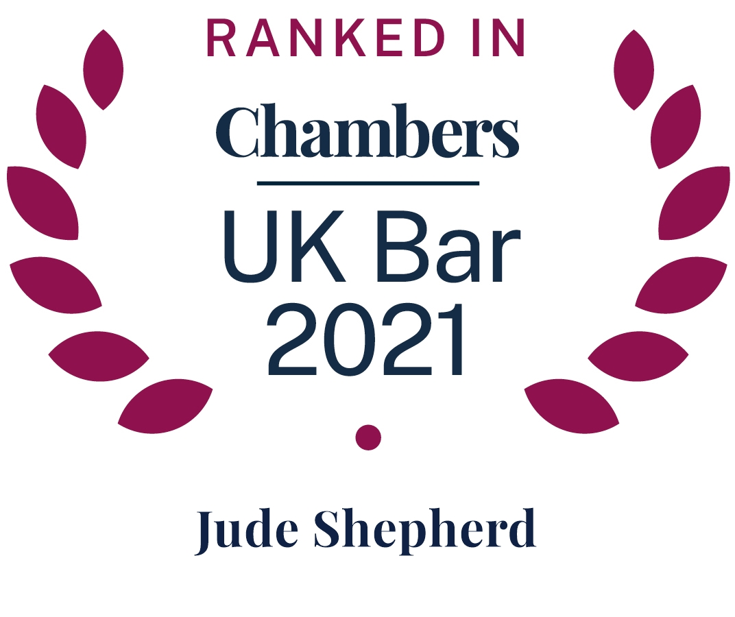 Ranked in UK Bar Chambers 2021