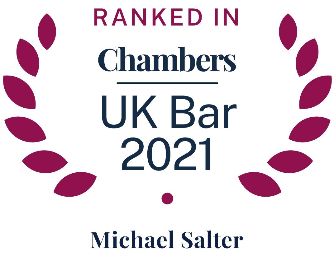 Ranked in UK Bar Chambers 2019